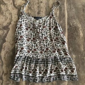 American Eagle Lace Up Top